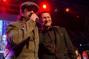 Gastgeber Titus Dittmann (re.) und Moderator Henning Wehland. (Foto: th)