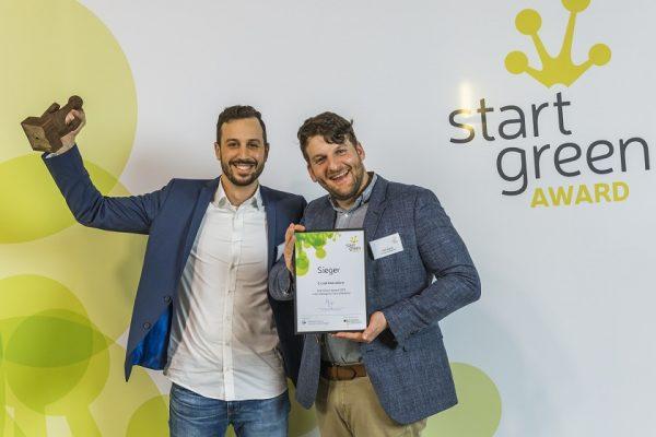 Das Start-up-Unternehmen E-Lyte Innovations aus Münster war einer der Sieger beim Sieger des StartGreen Award 2019. (Foto: Rolf Schulten)