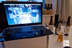 "Knapp 30 Bierfans nahmen virtuell an ""Schickern im Beis"" teil (Foto: Michael Bührke)"