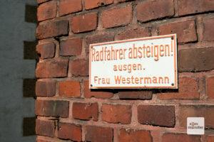 Das zweite berühmte Schild Münsters. Keine Kunst aber trotzdem schön (Foto: Michael Bührke)