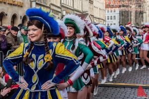 Der Aufmarsch der Münstergarden. (Foto: sg)