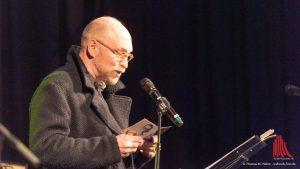 Burkhard Spinnen sang nicht die Lieder von Axel Schulß, er rezitierte sie wie Gedichte. (Foto: Thomas M. Weber /webrock-Foto)