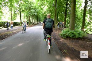 Die Promenade ist bestens geeignet, um als Radfahrer Strecke zu machen. (Foto: Michael Bührke)