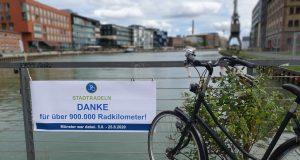 """Im letzten Jahr hat sich die Stadt Münster erstmalig am Wettbewerb """"Stadtradeln"""" beteiligt, dieses Jahr geht es in die nächste Runde. (Foto: Amt für Kommunikation, Stadt Münster)"""