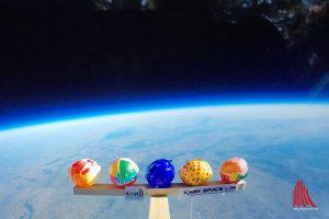 Die Sonden haben Fotos am Rand der Atmosphäre aufgenommen. (Foto: Stratoflights)