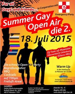 Auch dieses Jahr soll an der Kleimannbrücke wieder schwul gefeiert werden. (Foto: Flyer/Promo)
