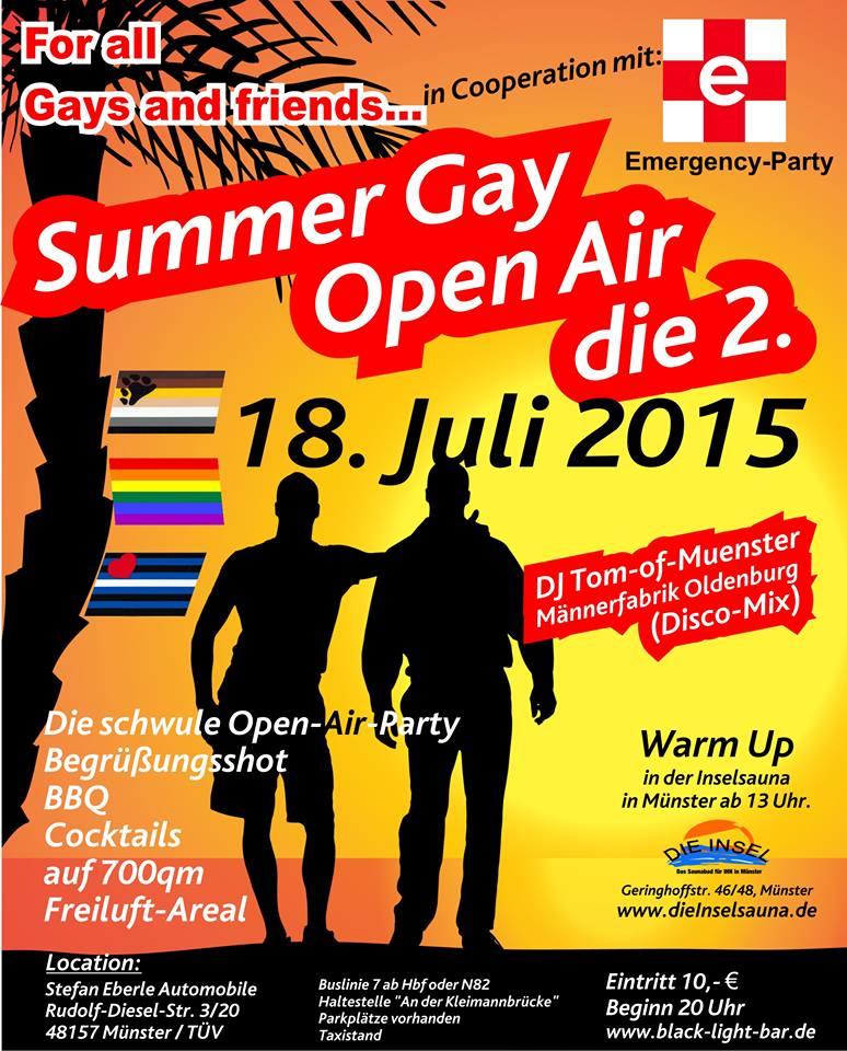 m nster bleibt bunt summer gay open air. Black Bedroom Furniture Sets. Home Design Ideas