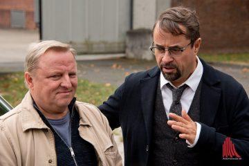 Kommissar Thiel (Axel Prahl) und Professor Boerne (Jan Josef Liefers) ermitteln wieder in Münster. (Archivbild: Michael Bührke)