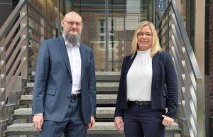 Stephanie Krähe ist neue stellvertretende Pflegedirektorin und ergänzt damit das Amt von Thomas van den Hooven, Pflegedirektor des UKM. (Foto: UKM)