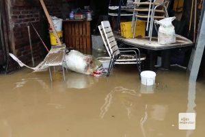 Am nächsten Morgen wurde das wahre Ausmaß der Überflutung deutlich (Screenshot: Magda Mayerhoffer)