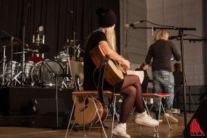 """Van de Forst"" beim Soundcheck vor der Show. (Foto: sg)"