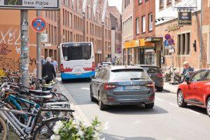 Die Hörsterstraße ist bis Ende September vom Durchgangsverkehr befreit. (Foto: Stadt Münster / Ralf Emmerich)