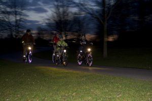 Die Verkehrswacht rät, gerade jetzt im Herbst die Fahrradbeleuchtung zu prüfen. (Foto: Verkehrswacht Münster)