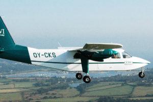 Die Maschine vom Typ Britten-Norman BN-2A-21 Islander wird nachst über Münster brummen und die Wärmebilder aufnehmen (Foto: COWI A/S)