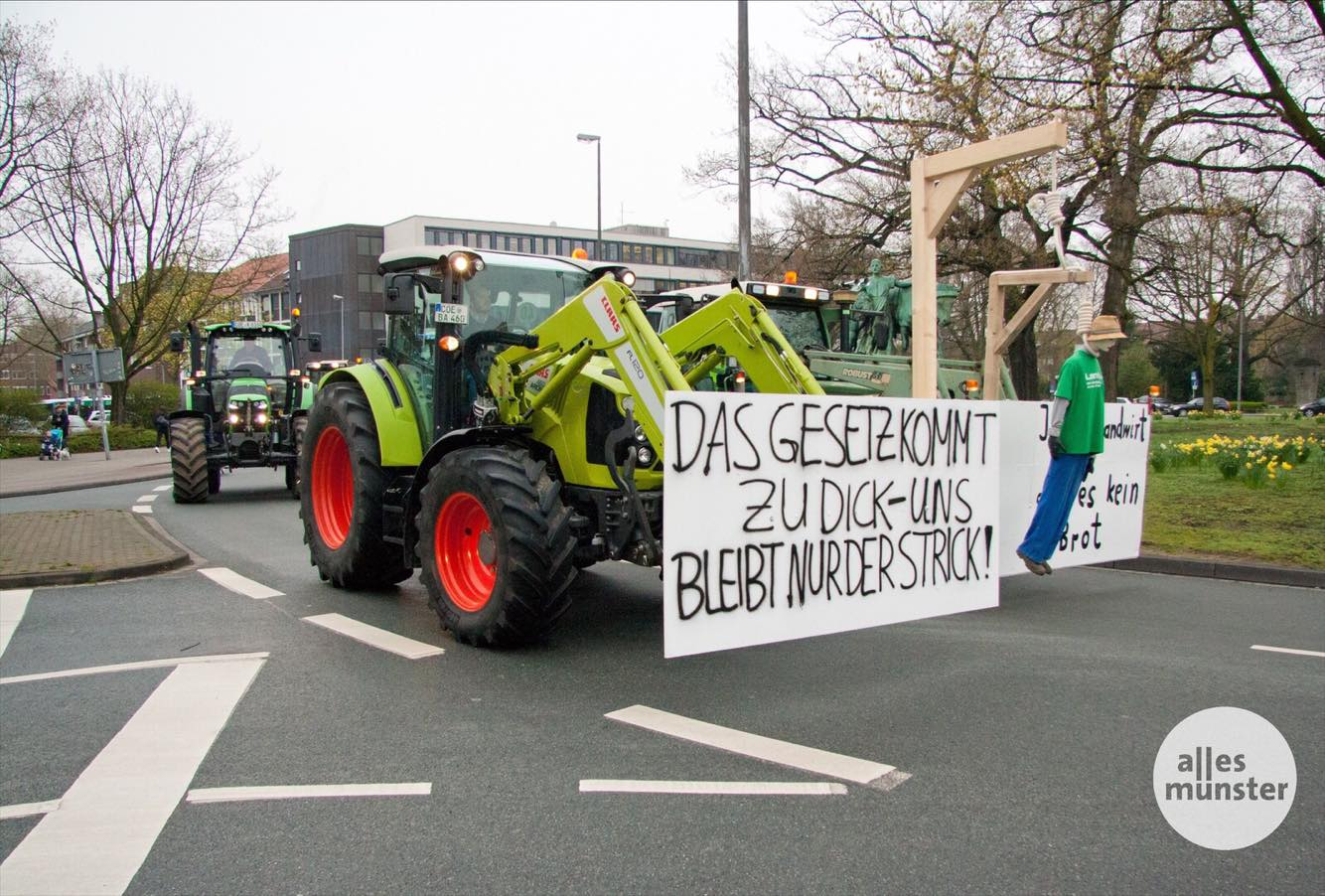 6000 Landwirte Demonstrieren In Münster Alles Münster