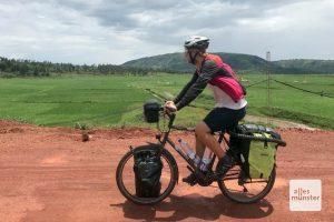 Die Anstrengungen werden immer wieder belohnt mit grandiosen Landschaften wie diesen Reisfeldern in Uganda. (Foto: privat)