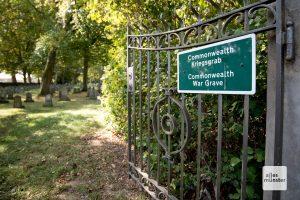 """Der Soldatenfriedhof """"Haus Spital"""" ist das auffälligste Überbleibsel eines großen Kriegsgefangenenlagers (Foto: Bührke)"""