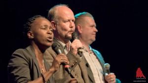 Die Gäste der Adam Riese Show (v.l.): Shary Reeves, Ralf Kramp und Ossi Münni
