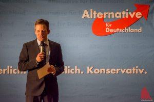 AfD-Ratsherr Martin Schiller beim Neujahrsempfang 2017 im Rathaus. (Foto: Archivbild: Thomas Hölscher)