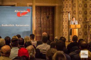 2017 durfte ALLES MÜNSTER noch am Neujahrsempfang der AfD in Münsters Rathaus teilnehmen, zu dem die ehemalige Parteisprecherin Frauke Petry als Ehrengast geladen war. (Archivbild: Thomas Hölscher)