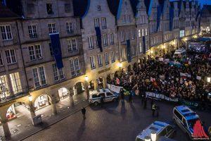 """Wie auch beim letzten AfD-Neujahrsempfang 2017 in Münster ruft das """"Keinen Meter"""" Bündnis zu Protesten auf. (Archivbild: Thomas Hölscher)"""