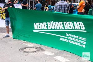 """Das Bündnis """"Keinen Meter den Nazis"""" hat für den AfD-Kreisparteitag Proteste angekündigt. (Archivbild: Thomas Hölscher)"""