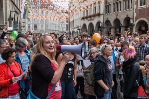 Sarah Schütte aus Münster hat den Flashmob in Münsters Guter Stube organisiert. (Foto: th)