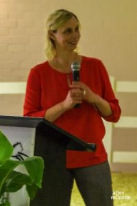 Schehka machte in ihrer Antrittsrede auf die Bedeutung von Zoos für den Tierschutz aufmerksam. (Foto: Katja Angenent)