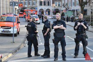 Die Innenstadt von Münster ist abgeriegelt. (Foto: th)