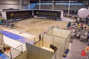 Der Trainingsplatz während des Gastspiels in Münster, hier wird vormittags trainiert. (Foto: th)