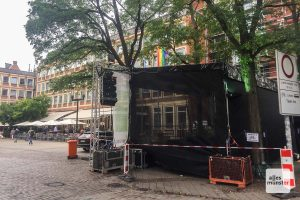 Die Bühne an der Klemensstraße. (Foto: Thomas Hölscher)
