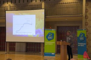 """Prof. Rahmstorf: """"Die Globale Klimaerwärmung ist nur mit dem Druck von Bürgerinnen und Bürgern noch aufzuhalten."""" (Foto: ka)"""