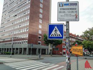 Die Hammer Straße wird zur Großbaustelle. (Foto: th)
