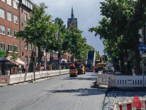 Die Arbeiten auf der Hammer Straße kommen gut voran. (Foto: th)