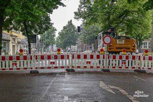 Die Kreuzung Wolbecker Straße und Ring wird am Mittwoch wieder für den Verkehr freigegeben. (Foto: Tessa-Viola Kloep)