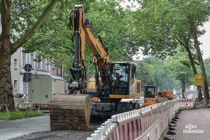 Im Bereich der Baustelle am Ring / Wolbecker Straße sorgen unter anderem Falschparker für Probleme. (Foto: Tessa-Viola Kloep)