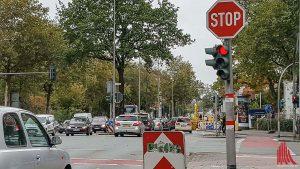 Am Nadelöhr Steinfurter Straße wird es stadteinwärts eng. (Foto: so)