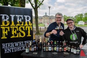 Veranstalter Michael Solms (li.) und Braumeister Philipp Overberg von der Gruthaus Brauerei Münster freuen sich auf das Bierfest. (Foto: th)