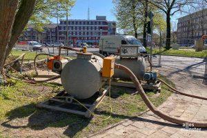 Der Verdachtspunkt in unmittelbarer Nähe zum Iduna-Hochhaus. (Foto: Thomas Hölscher)