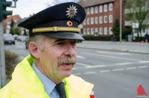 Einsatzleiter Udo Weiss kennt die Wirksamkeit von Blitzmarathons aus langjähriger Erfahrung. (Foto: th)