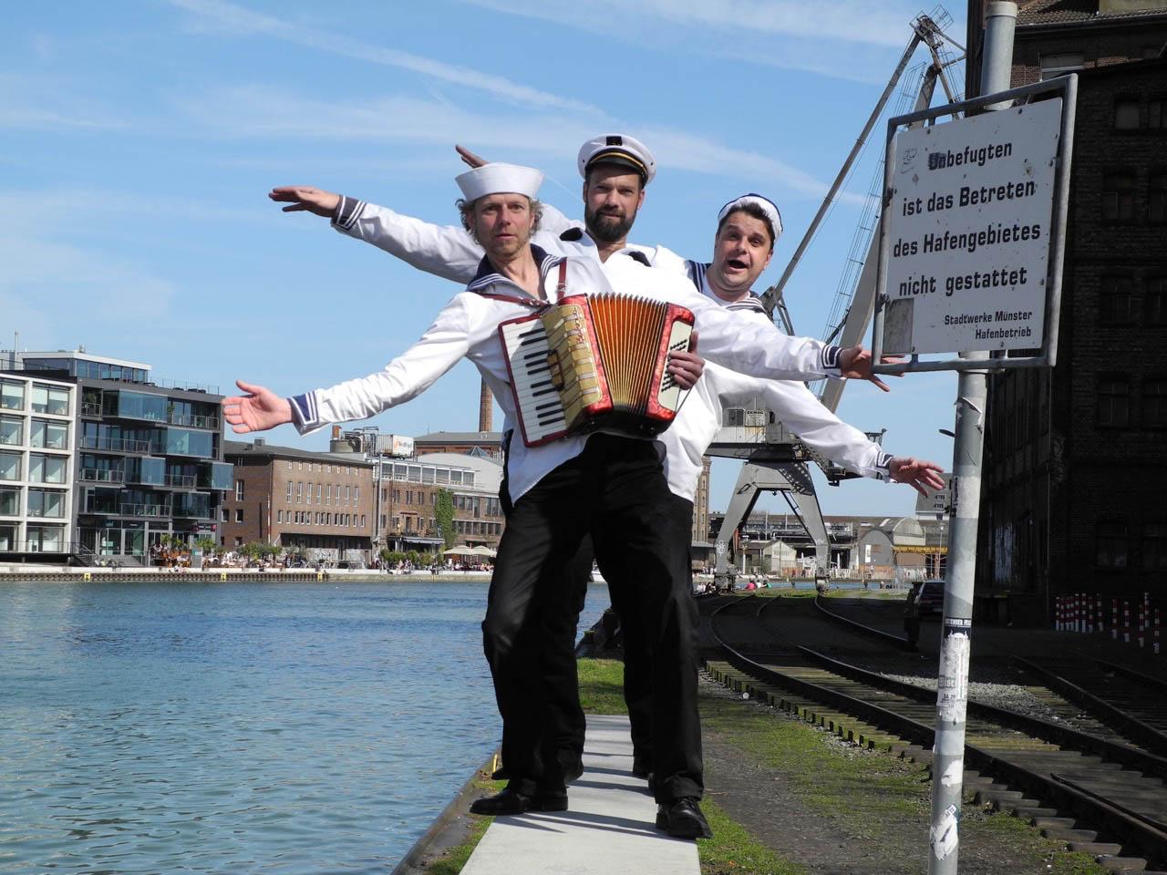 Die Blosewinds am Münsteraner Hafen. (Foto: PR)