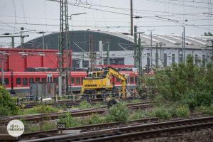 In dieser Gleisanlage der Deutschen Bahn war der Blindgänger vermutet worden. (Foto: Thomas Hölscher)