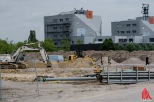 Auf dieser Baustelle wurde eine 5-Zentner-Bombe gefunden. (Foto: th)