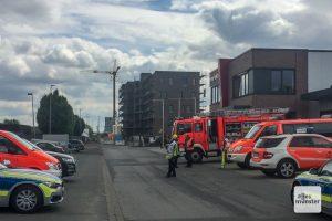 Der Fundort der Bombe hinter der Halle Münsterland. (Foto: Thomas Hölscher)