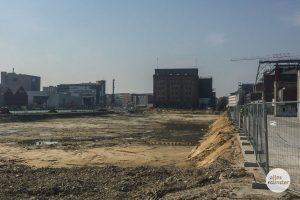 Auf dem Gelände der alten Osmohallen wurde heute bei Bauarbeiten eine Weltkriegsbombe gefunden. (Foto: Thomas Hölscher)