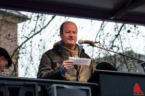 """Carsten Peters vom Bündnis """"Keinen Meter den Nazis"""". (Foto: Archivbild)"""