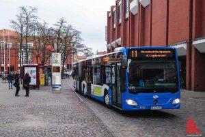 Der Busverkehr ist, wie auch die Müllabfuhr, nicht vom Warnstreik betroffen. (Archivbild: th)