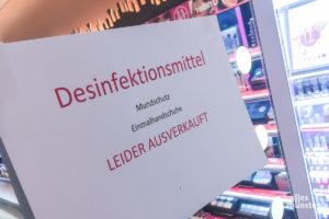"""""""Ausverkauft"""" - in vielen Drogeriemärkten in Münster. (Foto: Thomas Hölscher)"""