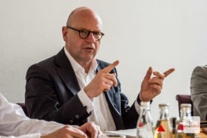 """""""Wir haben es in der Hand, die Verbreitung dieses Virus zu verlangsamen, seine Auswirkungen zu begrenzen und Maßnahmen wie eine Ausgangssperre zu verhindern"""", sagt Oberbürgermeister Markus Lewe. (Archivbild: Michael Bührke)"""