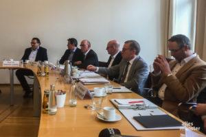 Corona: Der städtische Krisenstab informiert über die Situation in Münster. (Foto: Thomas Hölscher)